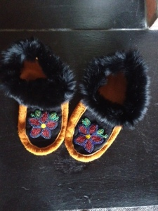 My First Hand-made Pair April 2014 Nehiyaw and Métis Territories